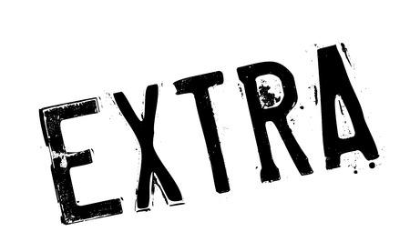 sello de goma extra. Diseño de Grunge con los rasguños polvo. Los efectos se pueden quitar fácilmente para una apariencia limpia y nítida. En color se cambia fácilmente. Ilustración de vector