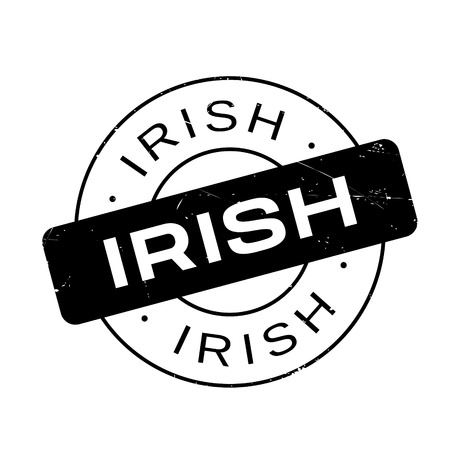 irish cities: Irish rubber stamp. Grunge design with dust scratches. Effects can be easily removed for a clean, crisp look. Color is easily changed.