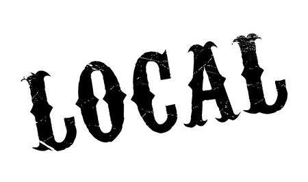 Local rubber stamp. Grunge design with dust scratches. Effects can be easily removed for a clean, crisp look. Color is easily changed.