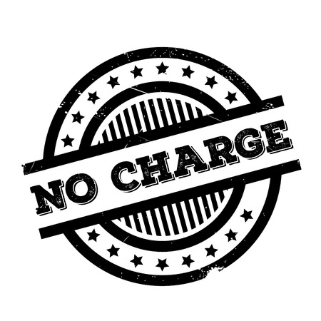 No Charge rubber stamp. Grunge design with dust scratches. Effects can be easily removed for a clean, crisp look. Color is easily changed.