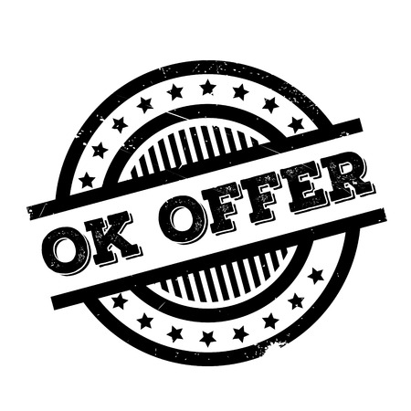 Ok Offer rubber stamp. Grunge design with dust scratches. Effects can be easily removed for a clean, crisp look. Color is easily changed.