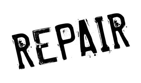 Repare el sello de goma. Diseño de Grunge con rayas de polvo. Los efectos se pueden eliminar fácilmente para una apariencia limpia y nítida. El color se cambia fácilmente.