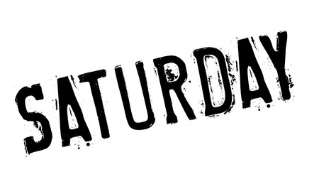 saturday: Saturday rubber stamp. Grunge design with dust scratches. Effects can be easily removed for a clean, crisp look. Color is easily changed.