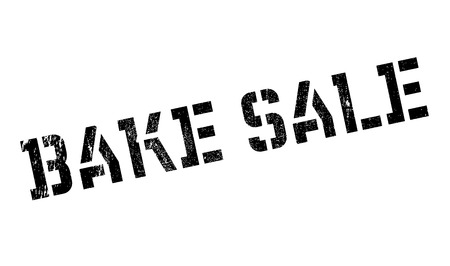 consuming: Bake Sale rubber stamp. Grunge design with dust scratches. Effects can be easily removed for a clean, crisp look. Color is easily changed.