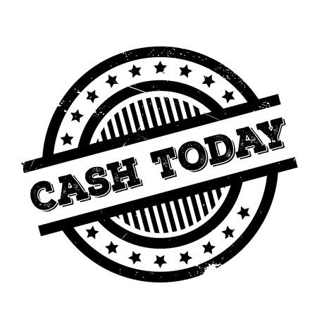 remuneraciÓn: sello de goma Hoy en efectivo. Diseño de Grunge con los rasguños polvo. Los efectos se pueden quitar fácilmente para una apariencia limpia y nítida. En color se cambia fácilmente.
