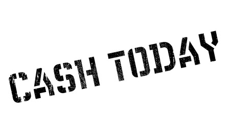 Cash Today rubber stamp. Grunge design with dust scratches. Effects can be easily removed for a clean, crisp look. Color is easily changed. Stock Photo