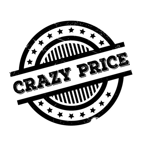 maniacal: Crazy Price rubber stamp. Grunge design with dust scratches. Effects can be easily removed for a clean, crisp look. Color is easily changed. Illustration