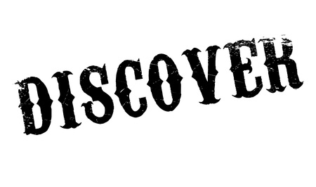 uncover: Discover rubber stamp. Grunge design with dust scratches. Effects can be easily removed for a clean, crisp look. Color is easily changed.