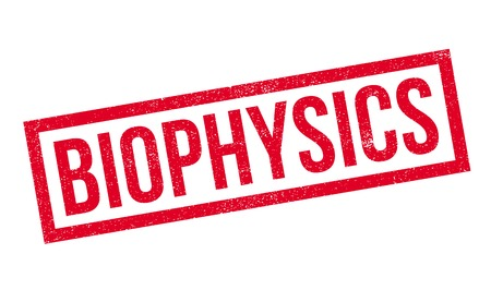 biophysics: Biophysics rubber stamp. Grunge design with dust scratches. Effects can be easily removed for a clean, crisp look. Color is easily changed.