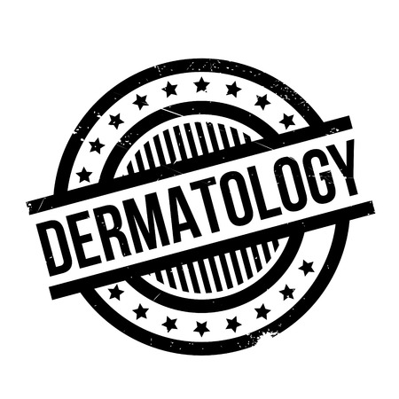 Dermatology rubber stamp. Grunge design with dust scratches. Effects can be easily removed for a clean, crisp look. Color is easily changed. Illustration
