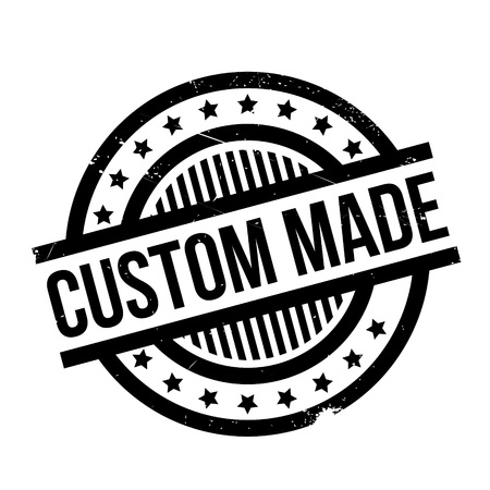 Custom Made rubber stamp. Grunge design with dust scratches. Effects can be easily removed for a clean, crisp look. Color is easily changed. Illustration