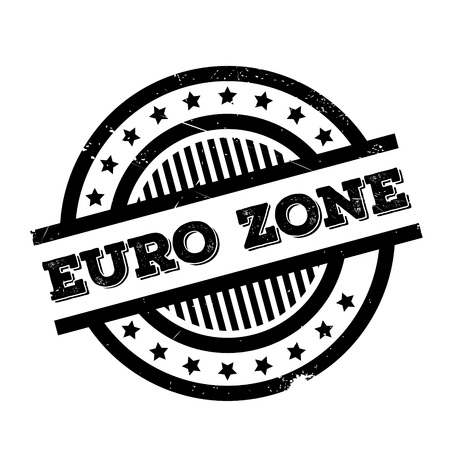 Euro Zone rubber stamp. Grunge design with dust scratches. Effects can be easily removed for a clean, crisp look. Color is easily changed.
