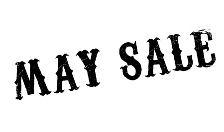 consuming: May Sale rubber stamp. Grunge design with dust scratches. Effects can be easily removed for a clean, crisp look. Color is easily changed.