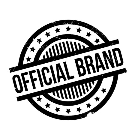 Official Brand rubber stamp. Grunge design with dust scratches. Effects can be easily removed for a clean, crisp look. Color is easily changed. Illustration