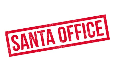 Santa Office rubber stamp. Grunge design with dust scratches. Effects can be easily removed for a clean, crisp look. Color is easily changed. Illustration