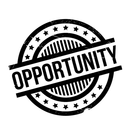 Opportunity rubber stamp. Grunge design with dust scratches. Effects can be easily removed for a clean, crisp look. Color is easily changed. Illustration