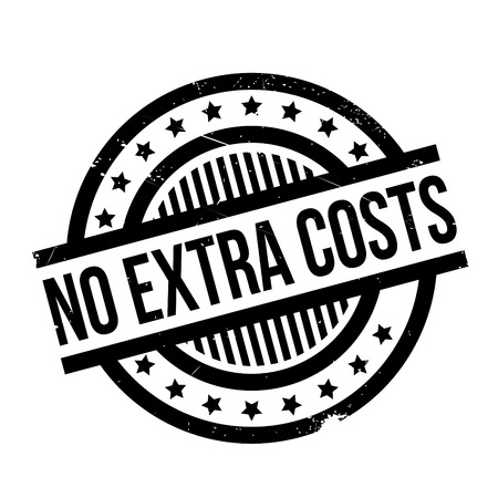 No Extra Costs rubber stamp. Grunge design with dust scratches. Effects can be easily removed for a clean, crisp look. Color is easily changed. Stock Photo