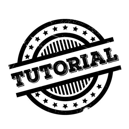 Tutorial rubber stamp. Grunge design with dust scratches. Effects can be easily removed for a clean, crisp look. Color is easily changed. Illustration