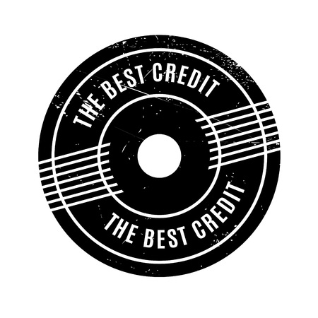 The Best Credit rubber stamp. Grunge design with dust scratches. Effects can be easily removed for a clean, crisp look. Color is easily changed.