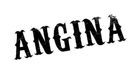 angor: Sello de goma de la angina de pecho. Diseño de Grunge con los rasguños polvo. Los efectos se pueden quitar fácilmente para una apariencia limpia y nítida. En color se cambia fácilmente. Vectores