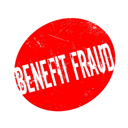lawlessness: Benefit Fraud rubber stamp. Grunge design with dust scratches. Effects can be easily removed for a clean, crisp look. Color is easily changed. Illustration