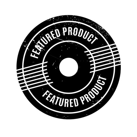 upshot: Featured Product rubber stamp. Grunge design with dust scratches. Effects can be easily removed for a clean, crisp look. Color is easily changed.
