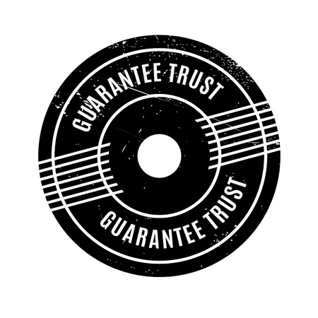 vow: Guarantee Trust rubber stamp. Grunge design with dust scratches. Effects can be easily removed for a clean, crisp look. Color is easily changed.