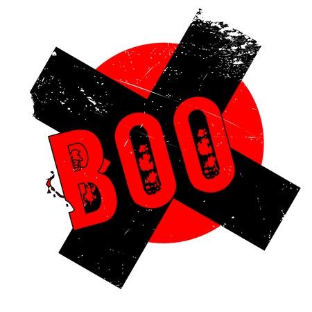 pantomima: Sello de goma de Boo. Diseño de Grunge con los rasguños polvo. Los efectos se pueden quitar fácilmente para una apariencia limpia y nítida. En color se cambia fácilmente.