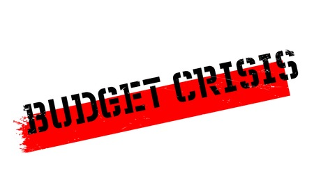 Budget Crisis rubber stamp. Grunge design with dust scratches. Effects can be easily removed for a clean, crisp look. Color is easily changed.