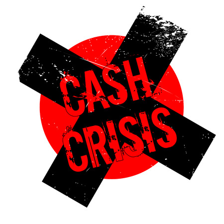 budgetary: Cash Crisis rubber stamp. Grunge design with dust scratches. Effects can be easily removed for a clean, crisp look. Color is easily changed.