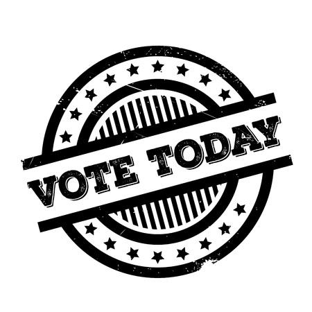 Vote Aujourd'hui tampon en caoutchouc. conception grunge avec des rayures de poussière. Les effets peuvent être facilement enlevés pour un aspect propre et croustillant. La couleur est facilement changée.