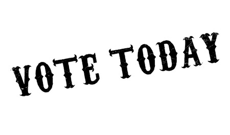 off the record: Vote Today rubber stamp. Grunge design with dust scratches. Effects can be easily removed for a clean, crisp look. Color is easily changed.