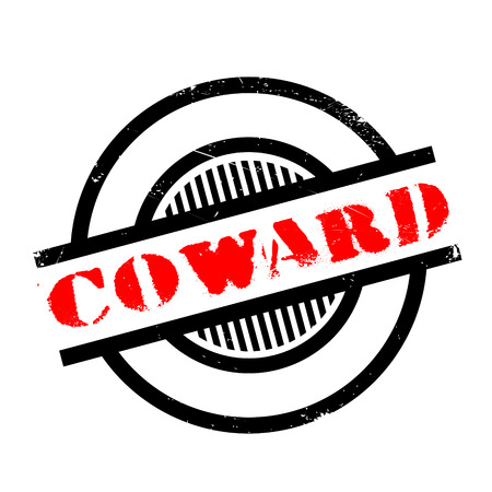coward: Coward rubber stamp. Grunge design with dust scratches. Effects can be easily removed for a clean, crisp look. Color is easily changed. Illustration
