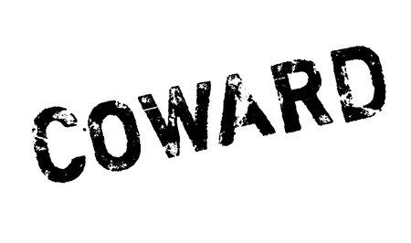 coward: Coward rubber stamp. Grunge design with dust scratches. Effects can be easily removed for a clean, crisp look. Color is easily changed. Stock Photo
