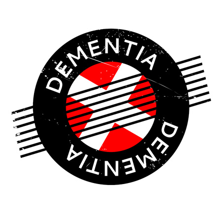 vascular: Dementia rubber stamp. Grunge design with dust scratches. Effects can be easily removed for a clean, crisp look. Color is easily changed.