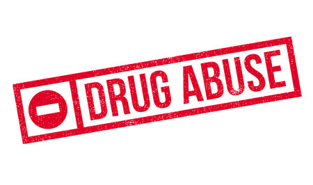 drug abuse: Drug Abuse rubber stamp. Grunge design with dust scratches. Effects can be easily removed for a clean, crisp look. Color is easily changed.