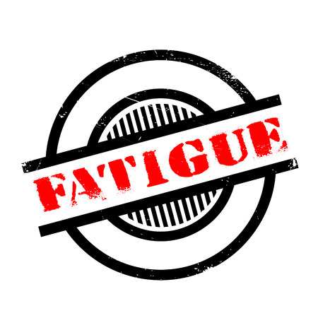 overtired: Fatigue rubber stamp. Grunge design with dust scratches. Effects can be easily removed for a clean, crisp look. Color is easily changed.