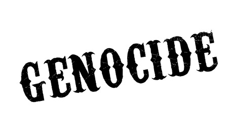 Genocide rubber stamp. Grunge design with dust scratches. Effects can be easily removed for a clean, crisp look. Color is easily changed. Vetores