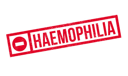 leopold: Haemophilia rubber stamp. Grunge design with dust scratches. Effects can be easily removed for a clean, crisp look. Color is easily changed. Illustration