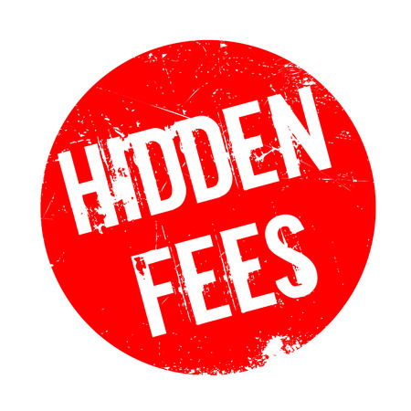Hidden Fees rubber stamp. Grunge design with dust scratches. Effects can be easily removed for a clean, crisp look. Color is easily changed. Stock Photo