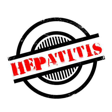 biopsy: Hepatitis rubber stamp. Grunge design with dust scratches. Effects can be easily removed for a clean, crisp look. Color is easily changed.