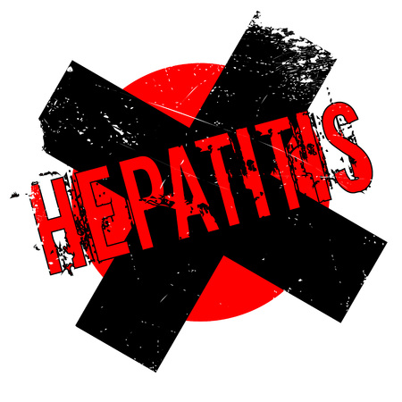 Hepatitis rubber stamp. Grunge design with dust scratches. Effects can be easily removed for a clean, crisp look. Color is easily changed.