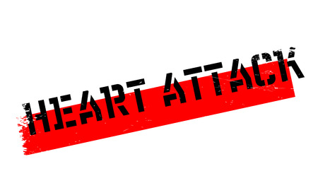 myocardial infarction: Heart Attack rubber stamp. Grunge design with dust scratches. Effects can be easily removed for a clean, crisp look. Color is easily changed.