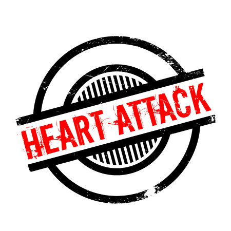 myocardial: Heart Attack rubber stamp. Grunge design with dust scratches. Effects can be easily removed for a clean, crisp look. Color is easily changed.