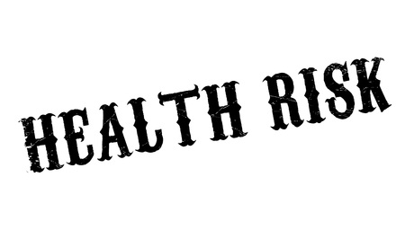healthfulness: Health Risk rubber stamp. Grunge design with dust scratches. Effects can be easily removed for a clean, crisp look. Color is easily changed.