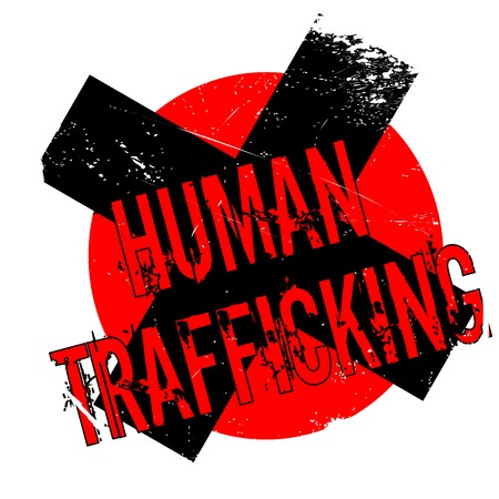 trafficking: Human Trafficking rubber stamp. Grunge design with dust scratches. Effects can be easily removed for a clean, crisp look. Color is easily changed.