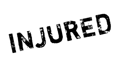 bruise: Injured rubber stamp. Grunge design with dust scratches. Effects can be easily removed for a clean, crisp look. Color is easily changed. Illustration