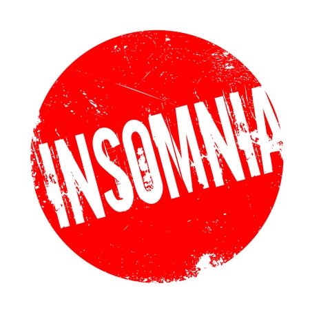 Insomnia rubber stamp. Grunge design with dust scratches. Effects can be easily removed for a clean, crisp look. Color is easily changed. Illustration