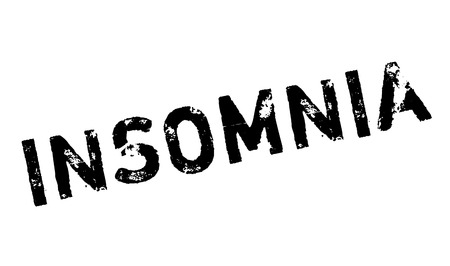 insomniac: Insomnia rubber stamp. Grunge design with dust scratches. Effects can be easily removed for a clean, crisp look. Color is easily changed. Illustration