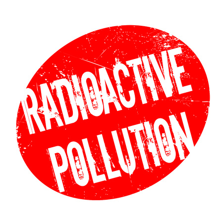 Radioactive Pollution rubber stamp. Grunge design with dust scratches. Effects can be easily removed for a clean, crisp look. Color is easily changed. Illustration